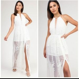 Beautiful white lace boho dress